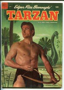 TARZAN #45-1953-DELL-BURROUGHS-MARSH-LEX BARKER PHOTO COVER-vg