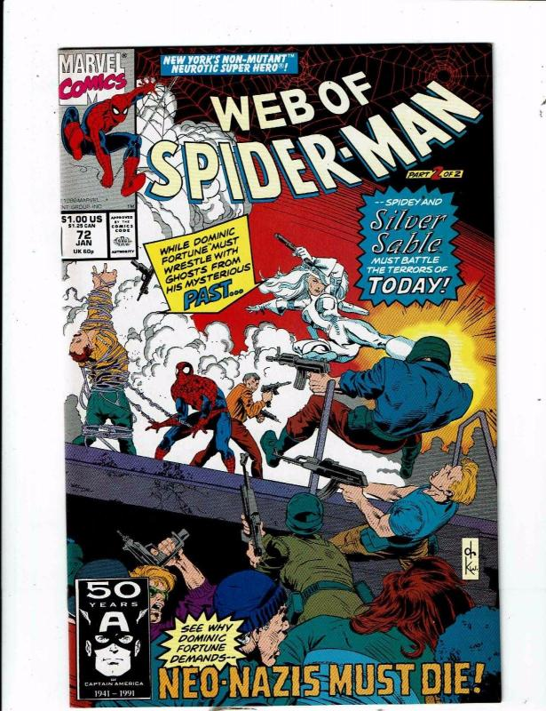 Lot of 5 Web of Spider-Man Marvel Comic Books #72 73 74 75 76 AH6