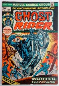 1973 MARVEL GHOST RIDER #1 1ST APP CAMEO SON OF SATAN ULTRA