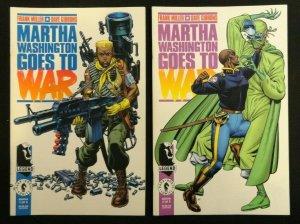 Marth Washington Goes To War #1-5 + Stranded In Space + Birthday + Martha Dies