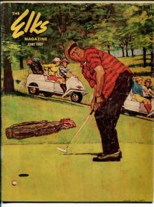 Elks Magazine-6/1967-golf cover and feature-VG/FN