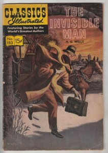 Classics Illustrated #153 (Dec-69) FN- Mid-Grade The Invisible Man