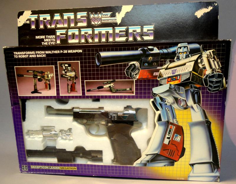 TRANSFORMERS MEGATRON Decepticon Toy Die Cast Plastic Transforming Gun Robot