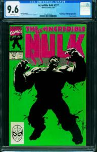 INCREDIBLE HULK #377-CGC 9.6 1st Professor Hulk-unpressed 2014539003