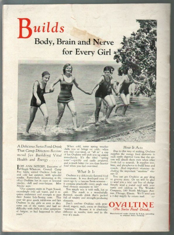 Everygirls 3/1931-Campfire Girls magazine-historic-pix-art-VG