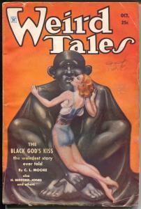 Weird Tales 10/1934-spicy GGA cover -Margaret Brundage-Robert E Howard-Conan-VG