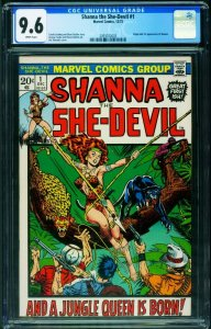 Shanna The She-Devil #1 CGC 9.6 comic book Savage Lands Marvel 2093072003