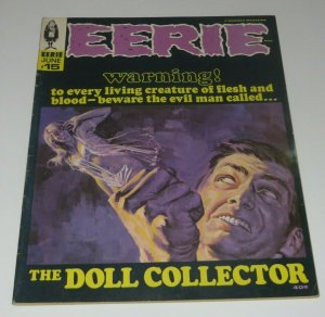 Eerie #15 VG/FN 1968 Silver Age Horror Magazine Haunted Strange Doll Collector
