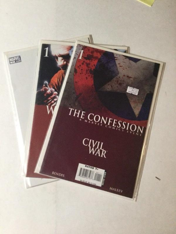 Civil War One Shots Lot Confession The Return War Crimes Nm Near Mint