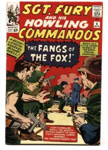 SGT. FURY AND HIS HOWLING COMMANDOS-#6-1964-MARVEL-KIRBY ART-WWII-