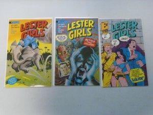 Lester Girls Lizard's Trail set #1-3 8.0 VF (1990)