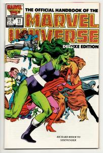 Official Handbook of the Marvel Universe #11 Deluxe Edition (1986) VF/NM