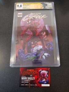 ​ABSOLUTE CARNAGE #1 CGC 9.8 SIGNATURE SERIES  VARIANT SIGNED BY MARK BAGLEY .