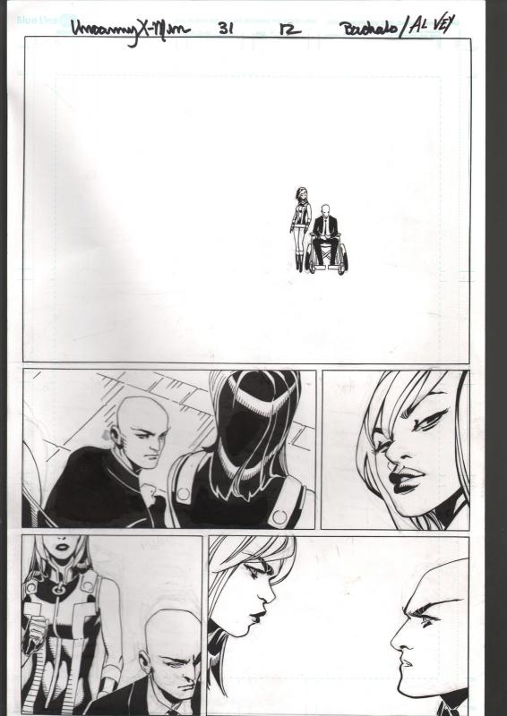 Uncanny X-Men #31 Page 12 Original Comic Book Art 2013-Bachalo-Al Vey-Prof X-FN