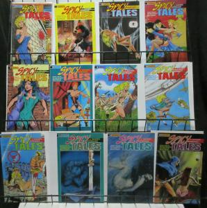 Spicy Tales (Eternity 1988) Lot of 12Diff Golden Age Scandalous Crime Stories