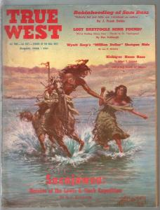 True West 8/1958-Western-Indian violence-Sacajawea-Wyatt Earp-G