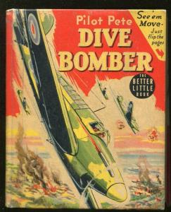 PILOT PETE DIVE BOMBER-BIG LITTLE BOOK-#1466-1941-ROBERT JENNY ART-DUBOIS-vg