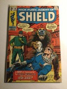 Nick Fury agent of Shield 18 very good vg 4.0 Marvel