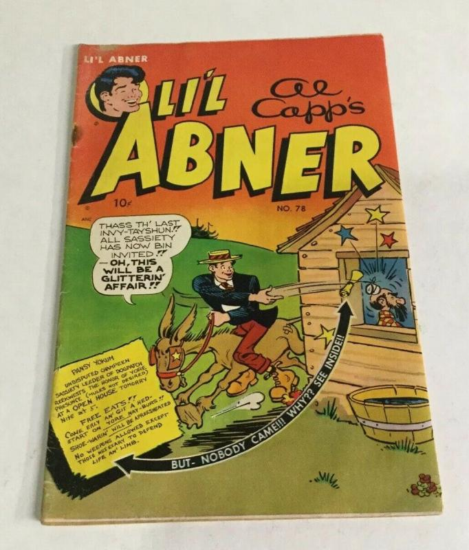Li'l Abner 78 Vg Very Good 4.0 Toby Press
