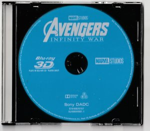 Avengers Infinity War 3D Blu Ray ONLY