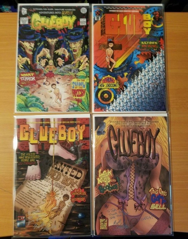 Glueboy 1-4 Complete Set Run! ALL SIGNED BILL SHAFER ~ VF - NEAR MINT NM ~ 1998