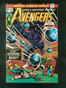 THE AVENGERS #137 1975-BEAST-IRON MAN-THOR-YELLOWJACKET VF/NM