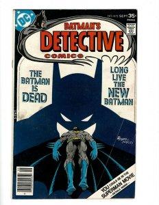Detective Comics # 472 FN- DC Comic Book Batman Robin Joker Catwoman SR1