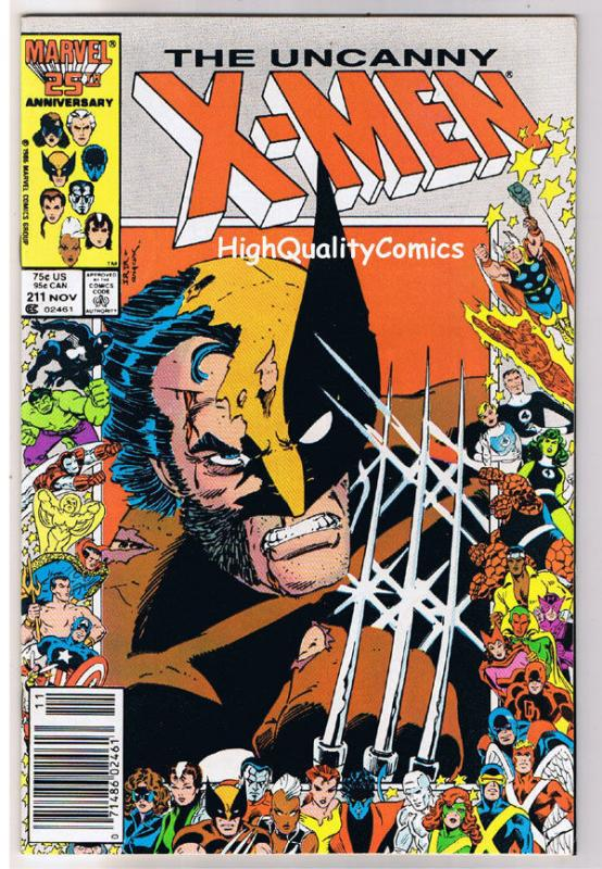 X-MEN #211, VF/NM, Wolverine, Chris Claremont, Uncanny, more in store