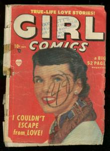 GIRL COMICS #1 1949-PHOTO COVER-GOLDEN AGE MARVEL LOVE FR