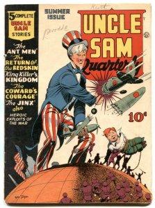 Uncle Sam Quarterly #3 1942-George Tuska cover- HITLER VG/F