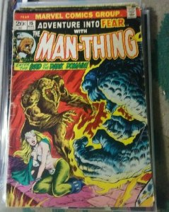 ADVENTURE INTO FEAR # 15 1977 MARVEL  MAN THING TED SALLIS MOVIE SOON