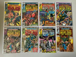 John Carter Warlord of Mars lot from:#5-28 all 15 diff books avg 7.0 (1977 &+)