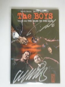 The Boys TPB #1 SC Signed with CoA NM (2007 1st Printing Dynamite)