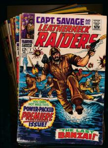 MARVEL LOT of 16! CAPTAIN SAVAGE and his LEATHERNECK RAIDERS #1-16 G/VG (PF298)