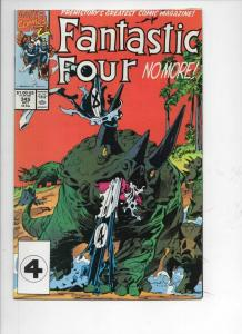 FANTASTIC FOUR #345 VF/NM Dinosaurs, 1961 1990 Marvel, more FF in store