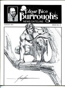 Edgar Rice Burroughs News Dateline #42 1991-Tarzan-new format issue-Grell-VF