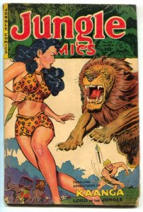 Jungle Comics #135 1951-Kaanga -lion cover VG