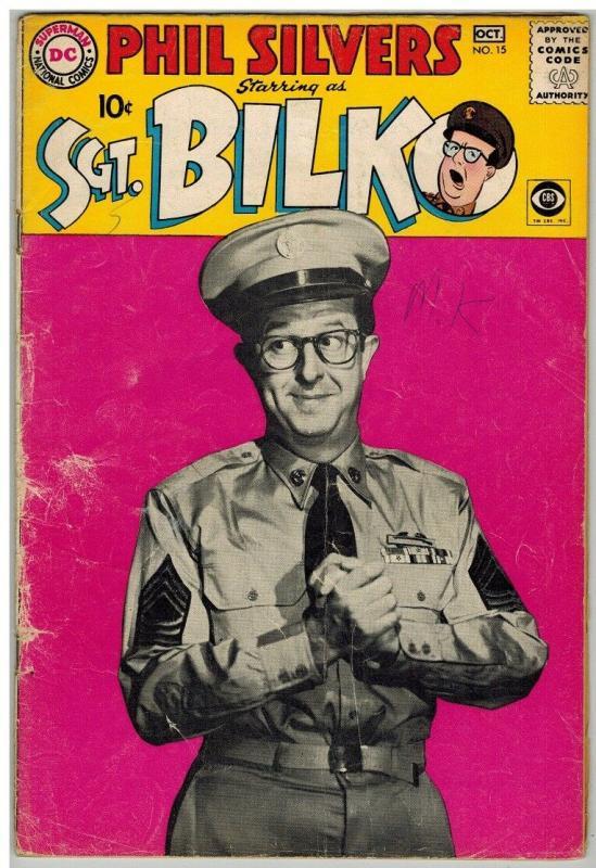 SERGEANT BILKO 15 GD Oct. 1959 PHOTO COVER