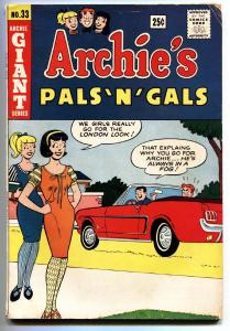 Archie's Pals 'n' Gals #33 1965-Ford Mustang-Betty and Veronica