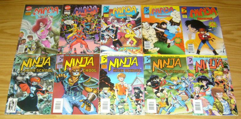 Ninja High School in Color #1-13 VF/NM complete series - ben dunn - eternity set