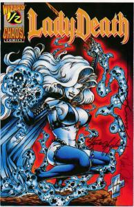 Chaos Comics LADY DEATH #1/2 Includes COA SIGNED COMIC ~VF ? (PF360)