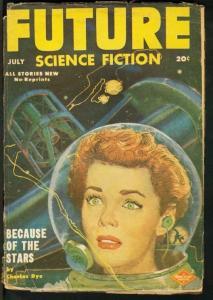 FUTURE SCIENCE FICTION 1952 JULY-BUBBLE HELMET COVER FR