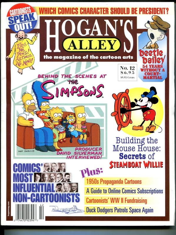 Hogan's Alley #12 2004-Simpsons-Al Capp-Beetle Bailey-Duck Rogers-VF