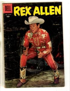 Rex Allen # 21 VG Dell Silver Age Western Comic Book Cowboy Photo Cover JL8