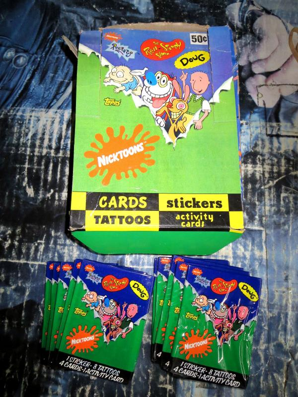 Pop Culture Trading Cards 4 sets Austin Powers Nicktoons Blair Witch Osbournes