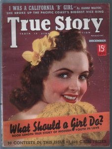 True Story 12/1938-West Coast's Biggest Drug Ring-exploitation-pulp thrills-VG