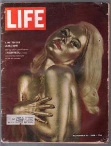 Life 11/6/1964-Shirley Eaton-Goldfinger-James Bond-007-Ford Mustang-G/VG