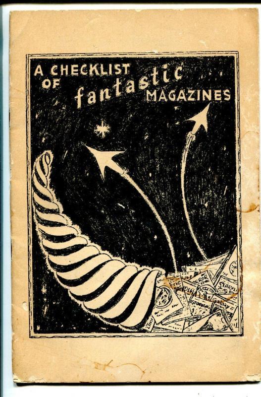 Bradford M. Day-A Checklist of Fantastic Magazines-1960's-original pulp index-G