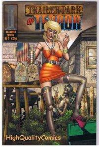 TRAILER PARK OF TERROR #1, VF+, Zombies, Halloween, Variant, Movie