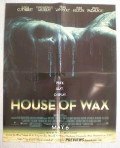HOUSE OF WAX Promo Poster, Paris Hilton, 17x21, Unused, more Promos in store
